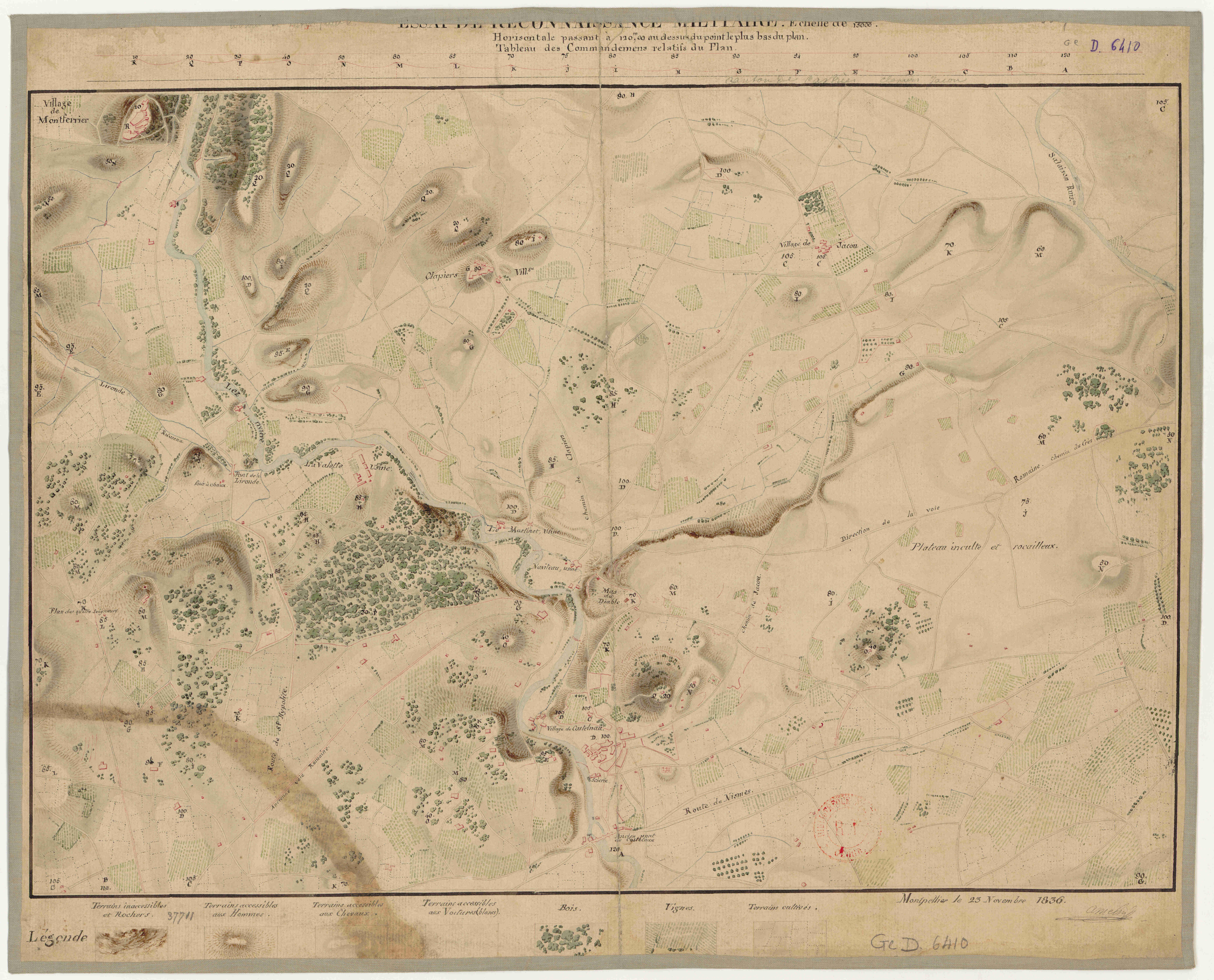 Cartographie ancienne de montpellier ville de montpellier - Journal de montpellier ...