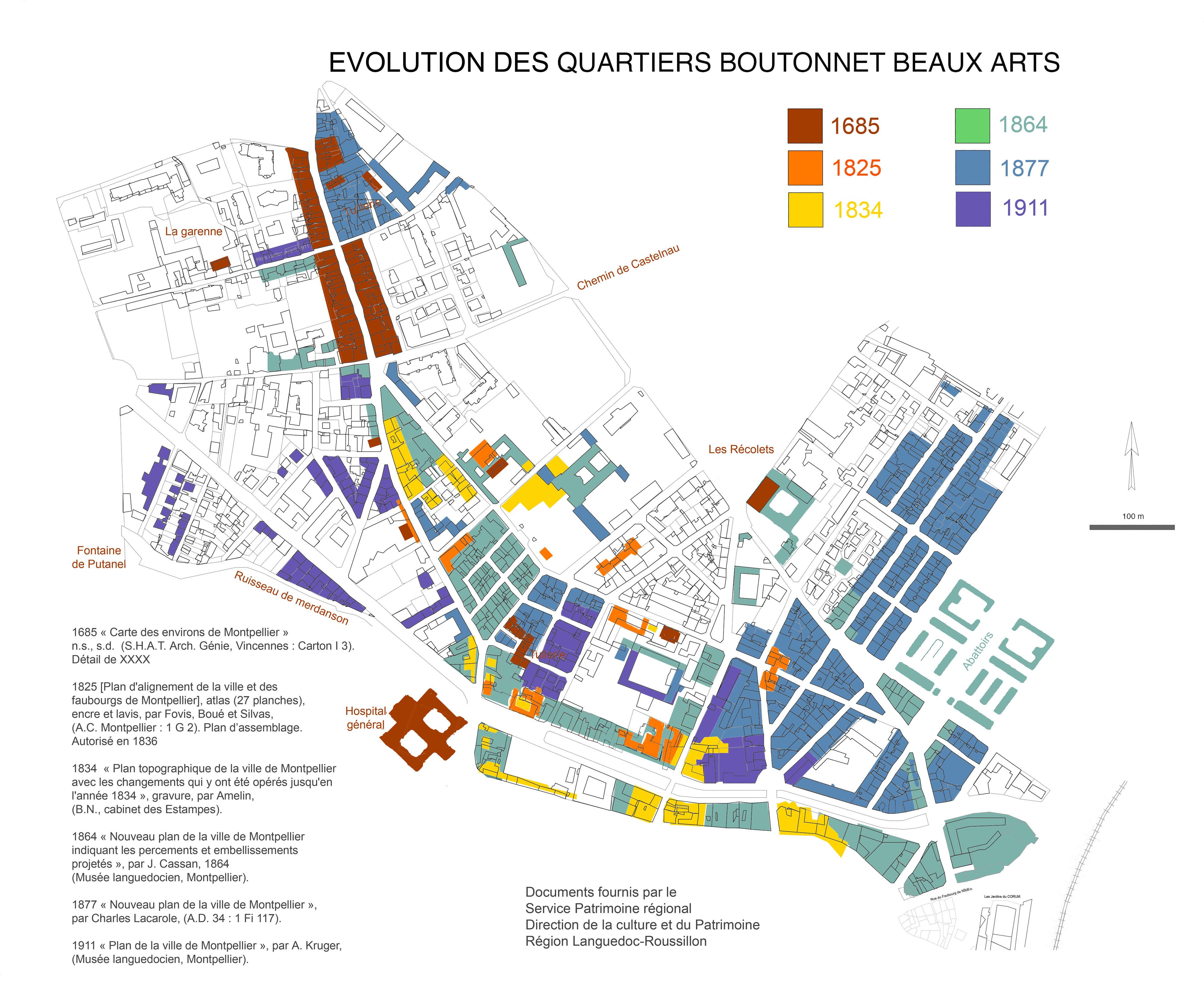 Cartographies Et Plans Anciens De Montpellier Ville De