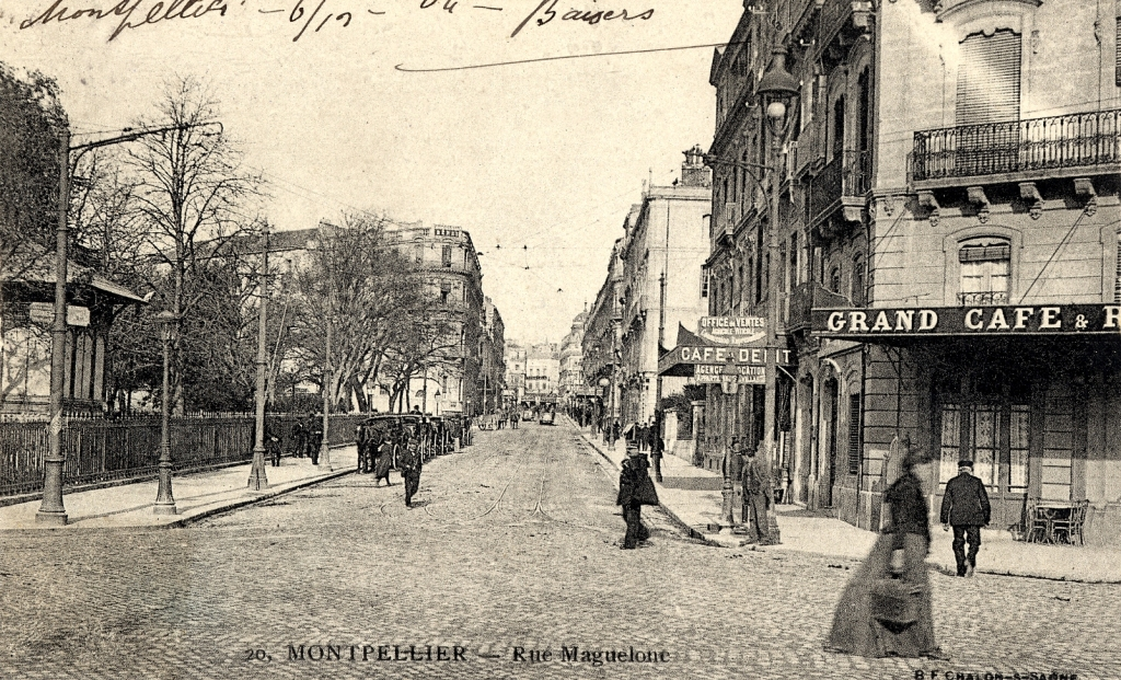 Rue Maguelone, vers 1900, 6Fi233