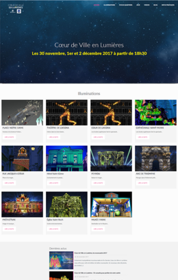 screenshot site coeur de ville en lumieres
