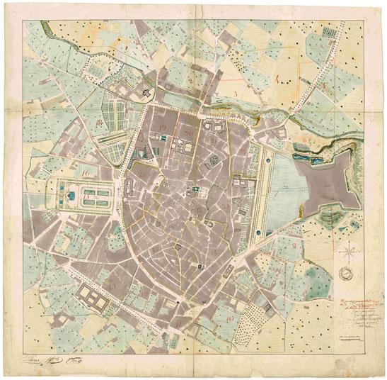 Plan Centre Ville Montpellier Moyen Age