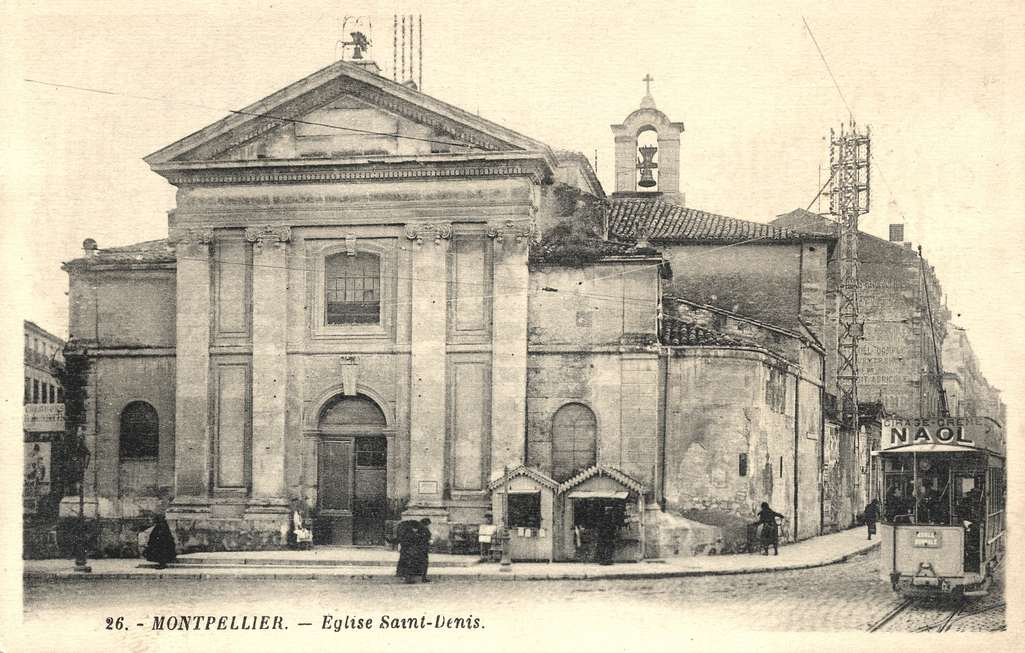 Eglise Saint-Denis, vers 1900. 6Fi 73
