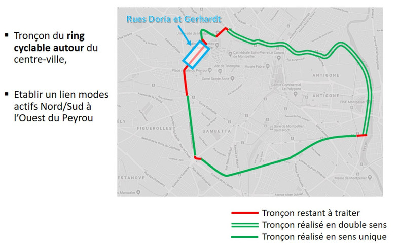 piste cyclable carte