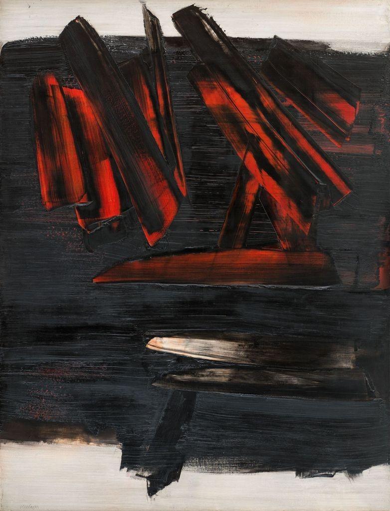 Toile du peintre P. Soulages