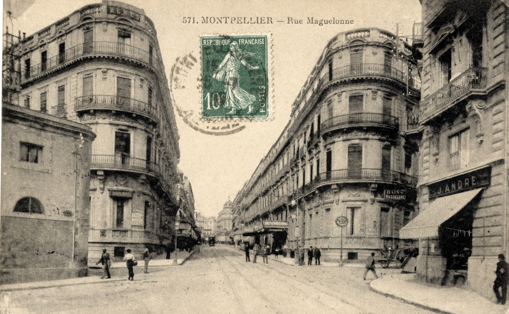 Rue Maguelone, vers 1900, 6Fi231