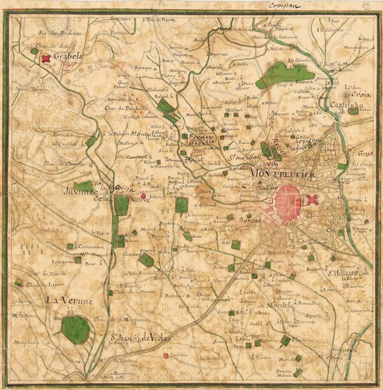 Carte de Montpellier 1775 - Cassini
