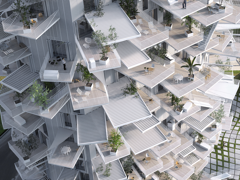 Richter - Sou fujimoto architects / NL*A Paris / Oxo architects / RSI