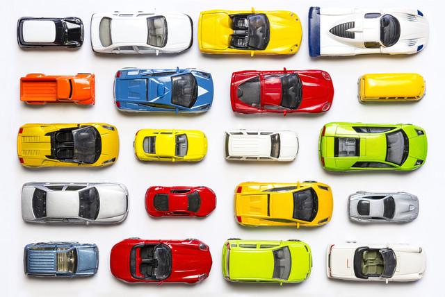 plusieurs petites voitures