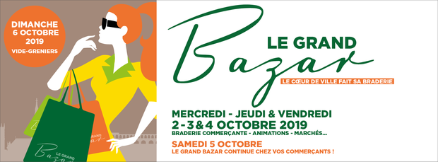 Le grand retour du Grand Bazar du 2 au 6 octobre 2019