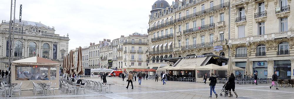 Acc s la zone pi tonne de montpellier ville de montpellier - Piscine place de l europe montpellier ...