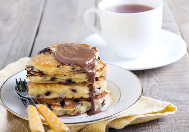 Photo de pancakes aux pépites de chocolat