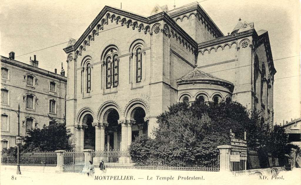 1867 Construction du temple protestant rue Maguelone. AMM, 6Fi227