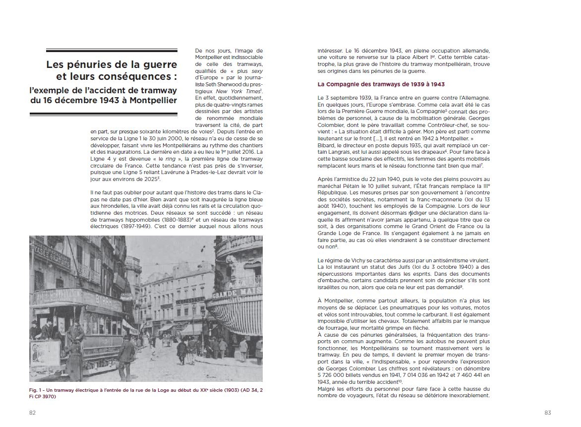 Pages 82-83 BHVM décembre 2016. Archives de la Ville de Montpellier