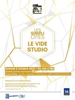 """Vide studio """"Les simplicités"""", samedi 2 octobre 2021 de 10h à 16h"""
