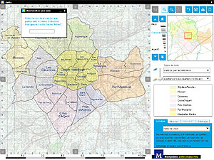 Cartographie ancienne de montpellier ville de montpellier - Quartiers de montpellier ...