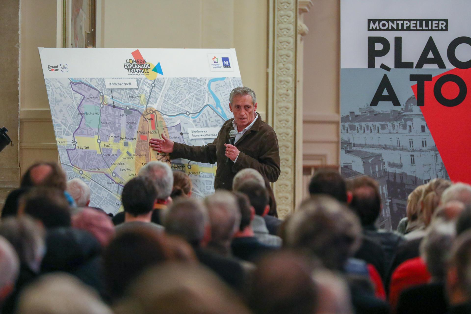 Le mardi 20 novembre, Philippe Saurel, Maire de Montpellier, Président de Montpellier Méditerranée Métropole a lancé « Places à tous »