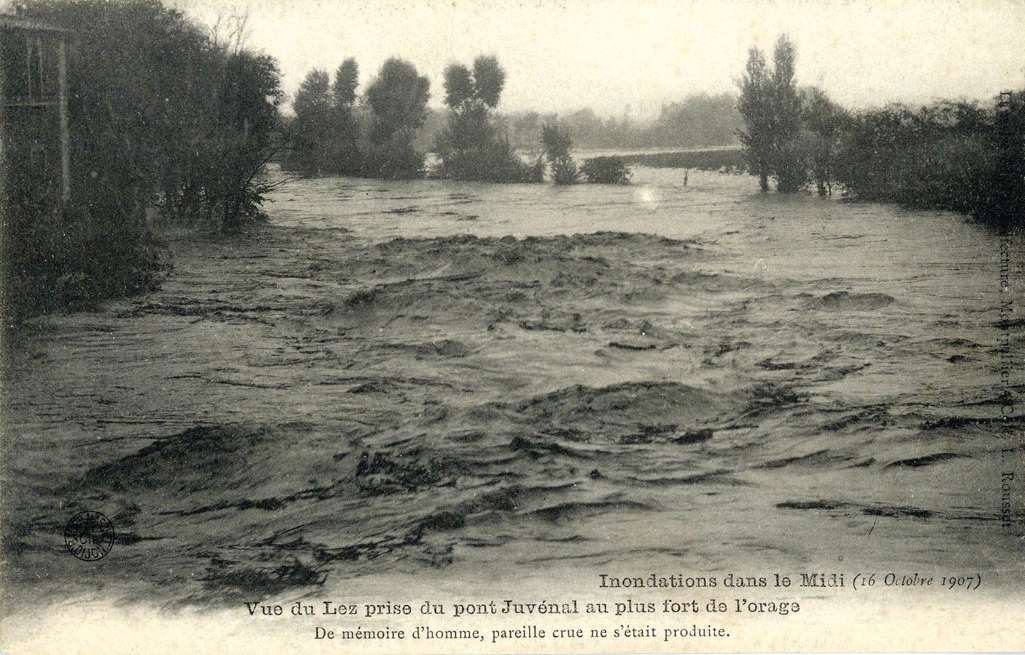 1907 Inondations à Montpellier. AMM, 6Fi981