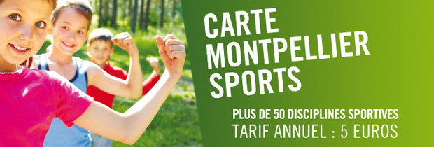 La carte Montpellier Sport version 2013 / 2014
