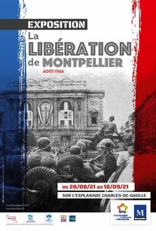 """L'exposition """"La Libération de Montpellier, août 1944"""", à découvrir du 26 août au 16 septembre 2021 sur l'Esplanade Charles-de-Gaulle"""