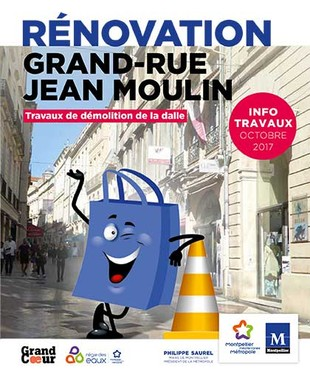 Jean Moulin travaux de démolition de la dalle