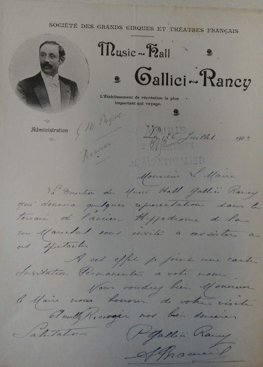 Programme Music-Hall Gallici Rancy, 1903 . AMM, série F