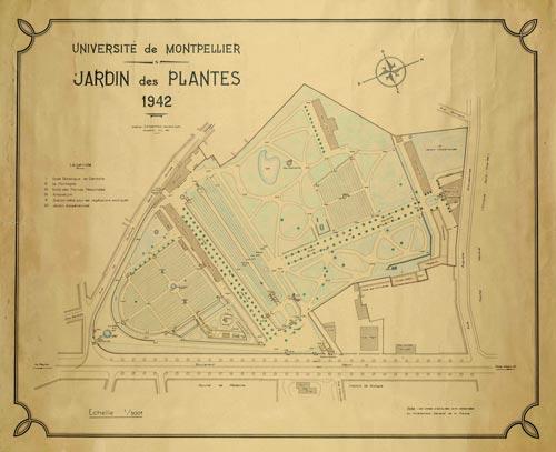 Cartographies et plans anciens de montpellier ville de montpellier - Pharmacie du jardin des plantes ...