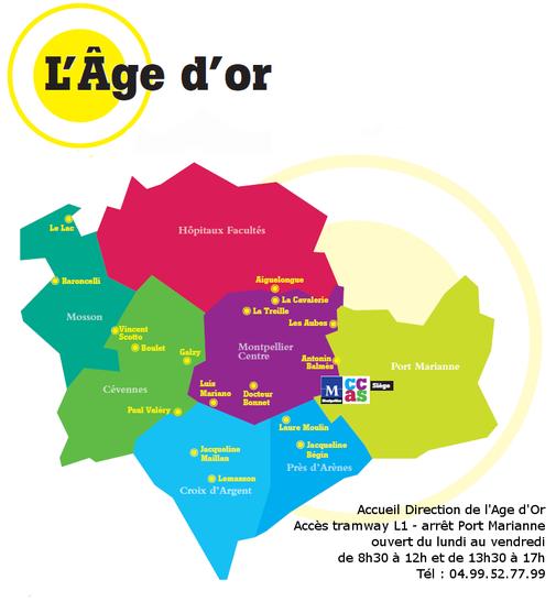 Les clubs age d 39 or montpellier ville de montpellier - Quartiers de montpellier ...