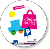 Sticker cheque-parking