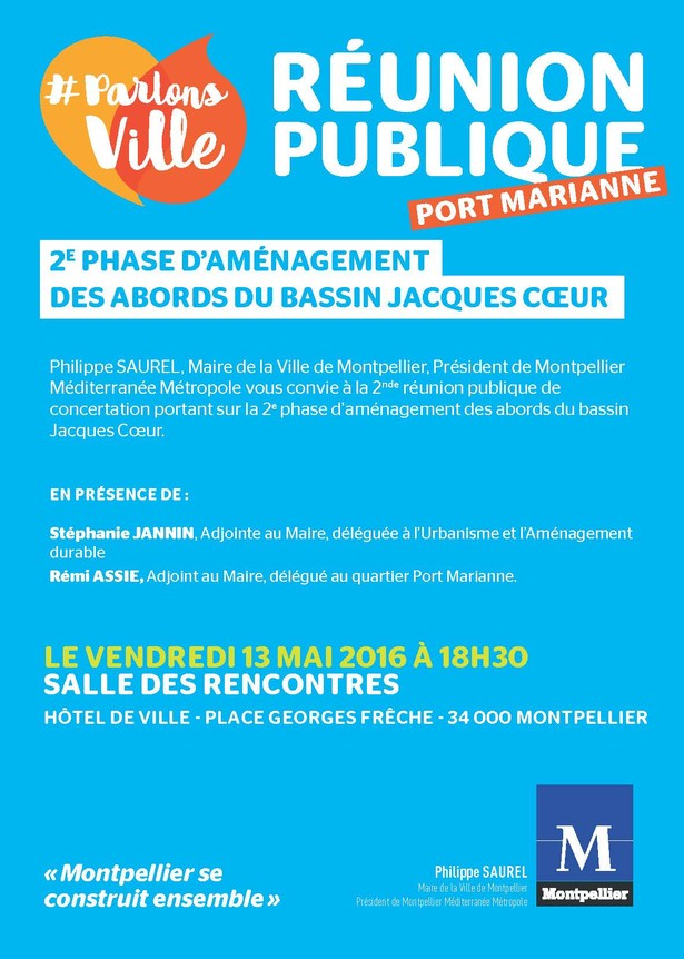 R union publique port marianne - Bassin jacques coeur port marianne ...
